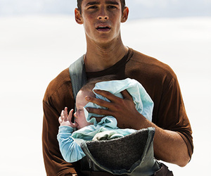 the giver, brenton thwaites, and baby image