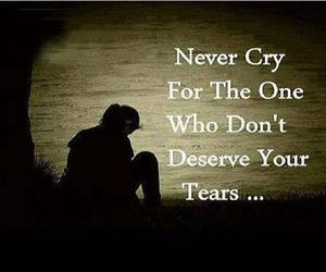 the one, deserve, and never cry image