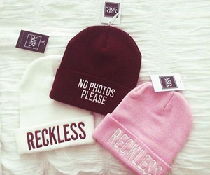 pink, reckless, and hat image