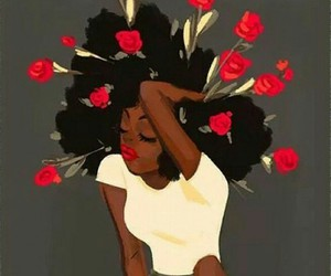 Afro, black girl, and dope image