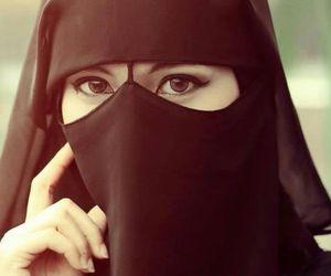 allah, eyes, and hijab image