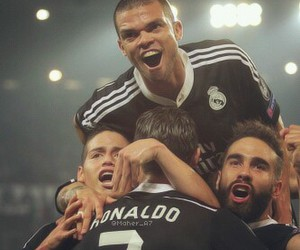 pepe, real madrid, and cristiano ronaldo image