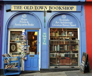 book, blue, and bookshop image