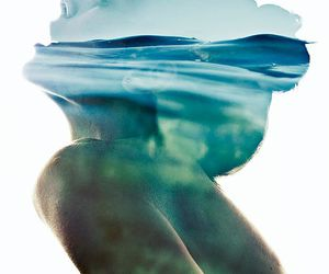 girl, water, and ocean image