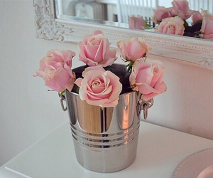 beauty, bunch of roses, and bedroom image