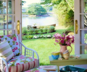 home, flowers, and garden image