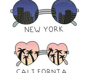 california, new york, and city image