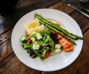 food, salmon, and fresh image