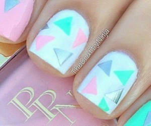 manicure, nail art, and pastel nails image