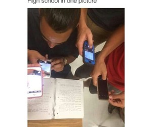 funny, high school, and school image