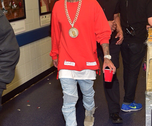 clothes, tyga, and gold image
