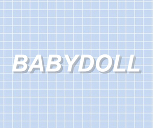 babydoll, blue, and aesthetic image