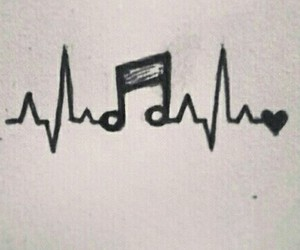 music, heart, and life image