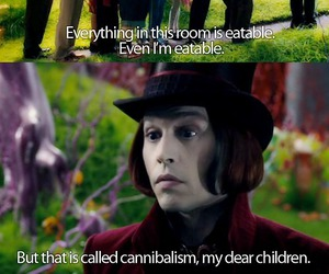johnny depp, Willy Wonka, and cannibalism image