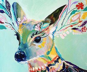 art, deer, and disegni image