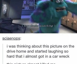 funny, tumblr, and monsters inc image