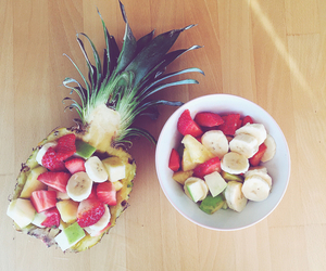 apple, pineapple, and strawberries image