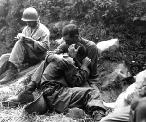 soldier, war, and black and white image