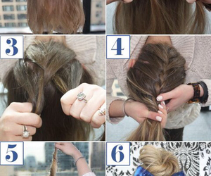 bun, diy, and hairstyle image