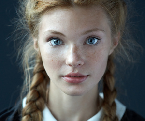 girl, braid, and freckles image
