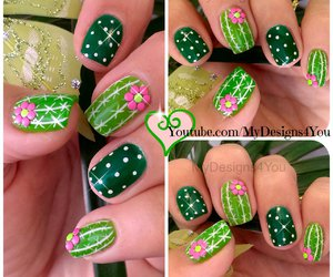 cactus, mexican, and nail art image