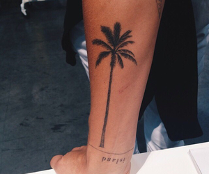 tattoo, summer, and palms image