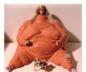 barbie, haha, and fat image