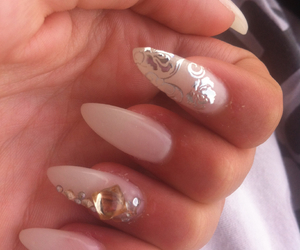 fashion, white nails, and nails image