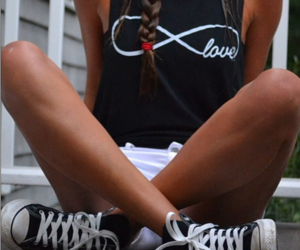 love, girl, and converse image