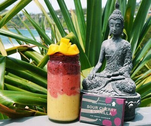 Buddha, drink, and fruit image