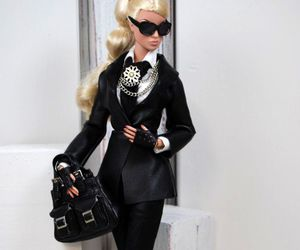 barbie, blond, and sunglasses image