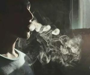 smoke, boy, and smoking image