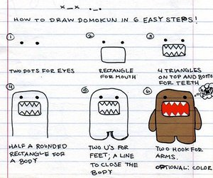 domo, draw, and domo-kun image