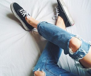 black, vans, and fashion image