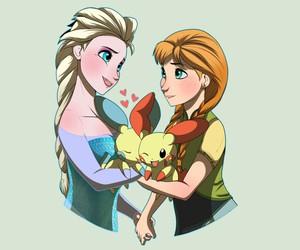 disney princess, frozen, and pokemon image