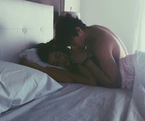 bed, ♥, and cuddle image