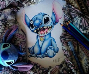 art, drawing, and stitch image
