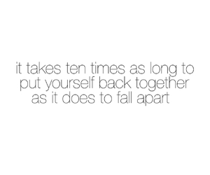 fall apart, broken, and quote image