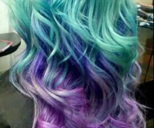 blue, hair, and purple image