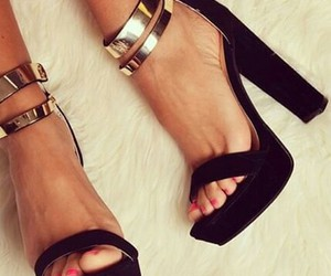 high heels, style, and sandal image