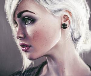 blond, girl, and elenasai image