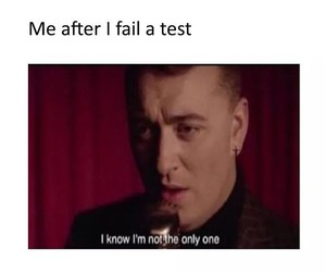 funny, sam smith, and fail image