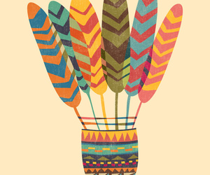 badminton, feathers, and navajo image