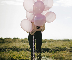 hair, wind, and balloons image