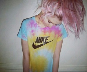 nike, pink, and hair image