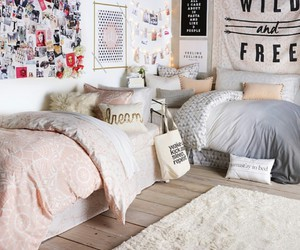 bed, pillows, and blankets image