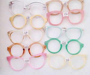 glasses, pastel, and pink image
