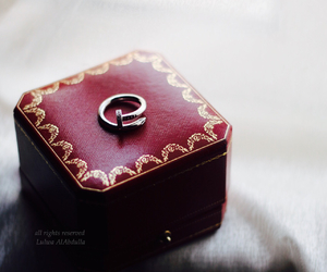 cartier, engagement, and gold image