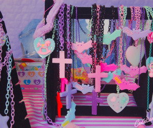 bats, necklaces, and crosses image