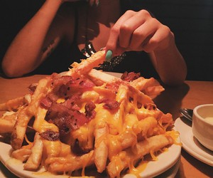 food, fries, and love image
